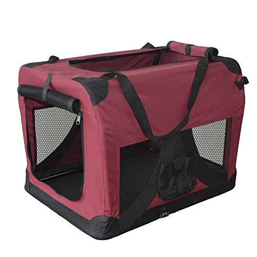 Hundetransportbox Hundebox faltbar Transportbox Autotransportbox Faltbox Transportasche 401-D02 Farbe: marrone, Grösse: S - 2