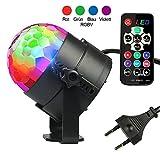 Diskokugel Disco Lichteffekte - InnooLight LED Partylicht Licht RGBV 12 Farbe Kristall Stimmenaktiviert Bühnenbeleuchtung DJ Lampe Ball für Party, Hochzeit, Weihnachten, Club
