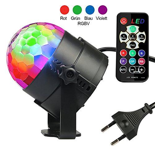 Diskokugel Disco Lichteffekte - InnooLight (2. Generation), LED Partylicht Licht RGBV 12 Farbe Kristall Stimmenaktiviert Bühnenbeleuchtung DJ...