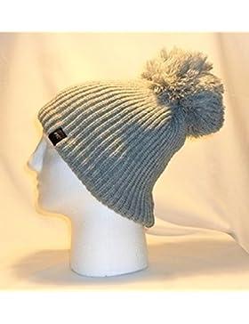Lusso foderato in pile con pon pon cappello/berretto/pom pom gamma di colori caldi invernali da uomo donna ragazzi...