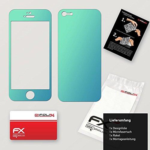 "Skin Apple iPhone 5 ""FX-Velvet-Black"" Designfolie Sticker FX-Variochrome-Lapis-Blue"