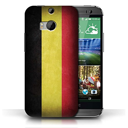 Coque en plastique pour HTC One/1 M8 Collection Drapeau - Mecico/Mecican Belgique