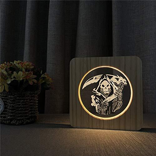 Lámpara de Grabado de Control de Interruptor de luz de mesilla de luz de Cuchillo para decoración de Habitaciones Infantiles
