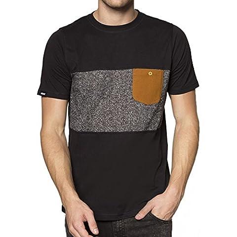 Camiseta Wrung – Pocketee negro/gris/marrón talla: XXL (XX-Large)