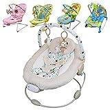 Monsieur Bébé ® Transat vibrant et musical + Barre à jouets et dossier inclinable - 5 modèles - Norme EN 12790