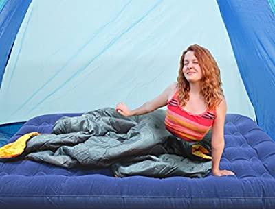 Milestone Camping Double Flocked Airbed - Blue
