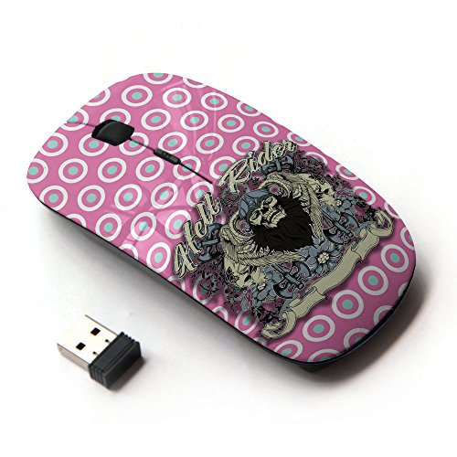 KOOLmouse [ Mouse Senza Fili Ottico 2.4G ] [ Biker Hell Skull Sweet Candy ]