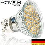 10x LED Spot SMD 2835 Leuchtmittel GU10 300lm - 320lm 230V Warmweiß 2700K mit Schutzglas ersetzt 35 Watt Halogen AL-G10WW27K-10