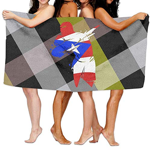 vbndfghjd Puerto Rico Boxer Flag 100% Polyester Velvet Absorbent Washcloths 31 X 51 Inches -