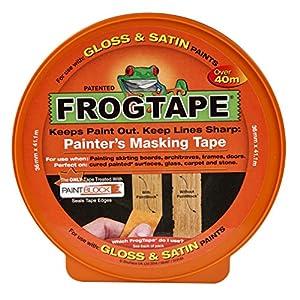 Frogtape Abdeckband für verschiedene Oberflächen, orange, SHU104201 0W, 0V, 36 mm x 41,1 m