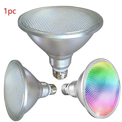 LNIMIKIY 20W RGB PAR38 Glühbirne, LED-Farbwechsel-Glühlampe mit Fernbedienung, Dimmbare Stimmung Beleuchtung E27 Edison-Schraube-Scheinwerfer(122x130mm,RGB) -