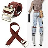 ExcLent Stilts Straps Drywall Leg Band Straps Kit Gancho Y Bucle Lienzo Tejido Marrón