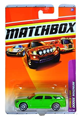 Mattel Year 2009 Matchbox MBX Sports Cars Series 1:64 Scale Die Cast Car #9 - Green Real-Wheel Drive Station Wagon DODGE MAGNUM (R4960) by Mattel