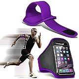 N4U ONLINE - Apple iPhone 4S Maßanfertigung Sport Armbänder Laufen Fahrrad Radfahren Fitness Joggen, Reiten Armband Gehäusedeckel - Lila