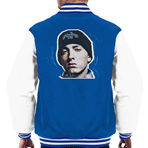Sidney Maurer Original Portrait Of Eminem Shady Hat Men's Varsity Jacket