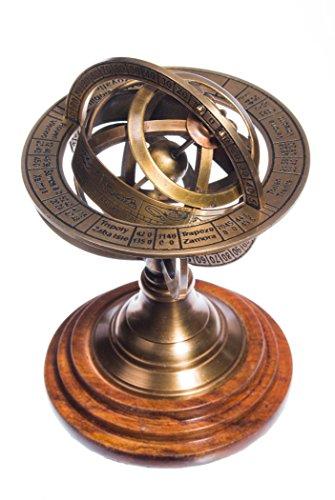 ing und Holz Tierkreiszeichen Steampunk Globe ()