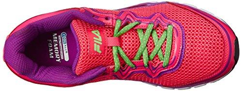 Fila di memoria Fresh Start antiscivolo scarpe da lavoro Knockout Pink, Purple Cactus Flower, White