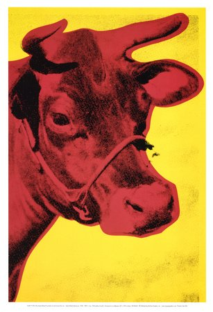 Andy Warhol Revolution (Kunstdruck 'Cow, c.1966 (Yellow and Pink)', von Andy Warhol, Größe: 33 x 48 cm)