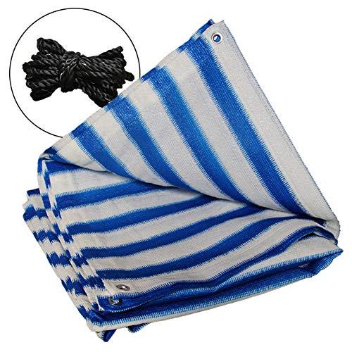 Preisvergleich Produktbild ZHANWEI Sichtschutznetz Sonnensegel Terrasse Blumen Wärmeisolierung Sonnencreme Streifen,  Anpassbare Größe (Color : Blue+White,  Size : 4x6m)