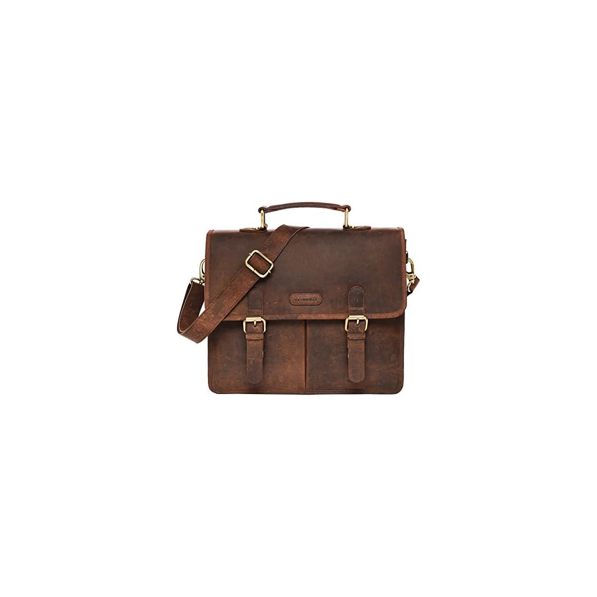 51vARPKuUqL. SS1200  - LEABAGS Oakland maletín de auténtico Cuero búfalo en el Estilo Vintage