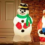 Festive Lights strombetriebene, beleuchtete Weihnachtsfiguren, verschiedene Motive und Größen, für Innen und Außen, (Schneemann 87cm)
