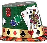 erdbeerclown - Casino Karten Hut , Mehrfarbig