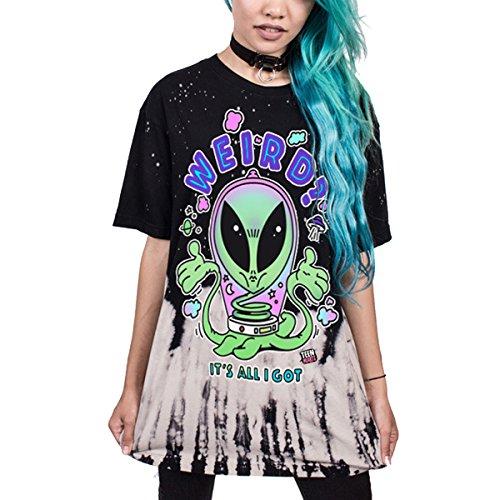 Leezeshaw Damen T-Shirt Alien