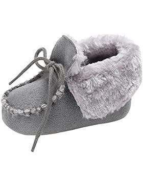 Agares Babyschuhe Säugling Kleinkind Junge Mädchen Weiche Sohle Lauflernschuhe Warm Winter Schuhe Schneestiefel