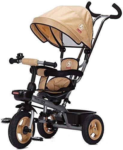 Cochecitos de paseo para niños Triciclo bici de doble dirección adecuado para 1-5 años de edad, bicis...
