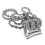 Best Bling collares de diamantes de joyería - Collar con colgante, de Bling King, con cadena Review