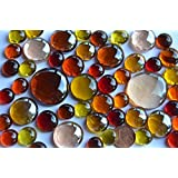 118g. Glasnuggets Sonnenmix, 4 versch. Größen 1-3 cm Deko Steine ca. 52 St.