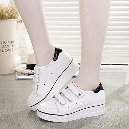 Senhoras flat Tênis Respirável Brancas De Planalto Outono Lace Sneakers Oco dIIwOcfqr