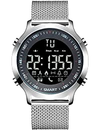 Wrath Smart Bluetooth Connected Silver Mesh Activewear Smart Watch (Pedometer, Call, Camera Operations, Calories & More -Andriod & iOS Apps Available)