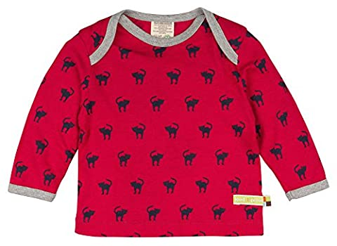loud + proud Unisex Baby Sweatshirt Shirt Woll-Anteil, Druck, Rot (Purple Pu), 92 (Herstellergröße: