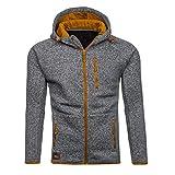 Coat Herren,SANFASHION Männer Herbst Winter Coat Casual Reißverschluss Langarm Pullover Sweatshirt Hoodie Mäntel Top