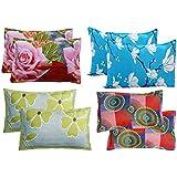 Supreme Home Collective Microfiber 144 TC Pillow Cover, 17 x 27 Inch, Multicolour, 8 Pieces