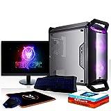 Fierce Warlord RGB Gaming PC Bundeln - Schnell 6 x 4.6GHz Hex-Core Intel Core i5 8600K, All-In-One Flüssigkühler, 1TB Seagate FireCuda Solid State Hybrid Drive, 16GB von 2666MHz DDR4 RAM / Speicher, NVIDIA GeForce GTX 1060 6GB, Gigabyte B360M AORUS GAMING 3 Hauptplatine, Cooler Master MasterBox Q300P RGB Computergehäuse, HDMI, USB3, Wi - Fi, VR Bereit, Perfekt für High-End-Spiele, Windows 10 installiert, Tastatur (QWERTZ), Maus, 24-Zoll-Monitor, 3 Jahre Garantie 1037742
