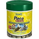 Tetra Pleco Tablets (Grünfutter-Tabletten mit einem hohen Anteil an Spirulina-Algen, Hauptfutter für alle pflanzenfressenden Bodenfische und scheuen Zierfische), 275 Tabletten Dose