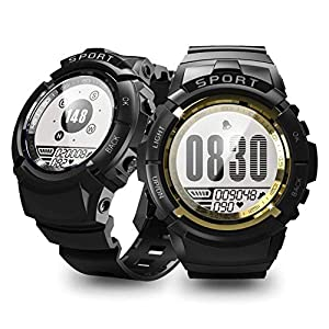 Rolexes Watch Shop Reloj Deportivo de Trekking al Aire Libre, Pantalla de naufragio con código de brújula y Reloj de Pulsera de Hombre con Matriz de Puntos Resistente al Agua