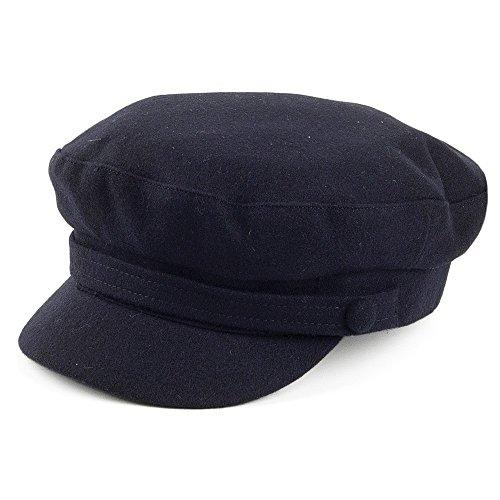 Village Hats Casquette de Marin en Melton bleu marine FAILSWORTH