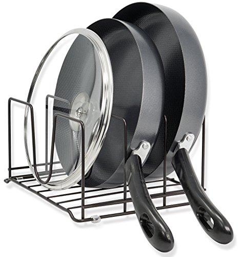 CAXXA Pot Lid, Chopping Board and Cookware Bakeware Holder, Bronze
