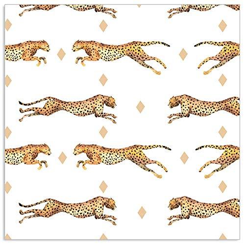 ARTEBENE Serviette Papierserviette Gepard Tier Weiß | 33 x 33 cm | 20 Stück | 3-lagig | Hochwertige Serviette für Feiern, Geburstage, Hochzeit, Grillen