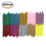 100 confezioni glitter mini Art Craft pistola per colla a caldo adesivo Sticks 7 mm * 100 mm