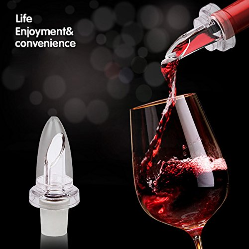 PANGUN Weiß-Rote-Wein-Aerator Pour Spout Flaschen-Stopper Aerating Decanter Pourer Rot-stopper