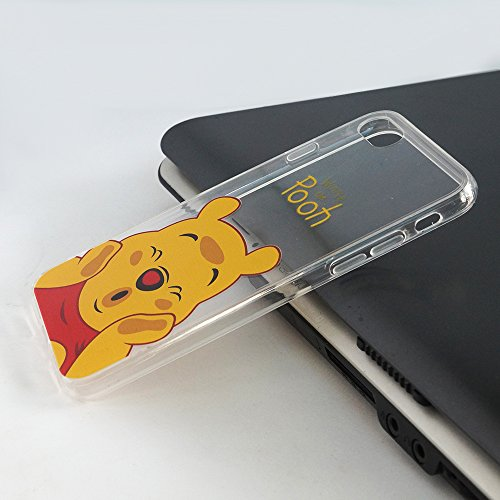 "VComp-Shop® Transparente Silikon TPU Handy Schutzhülle mit Motiv Cartoon Disney für Apple iPhone 7 4.7"" + GRATIS Displayschutzfolie - Winnie the Pooh Winnie the Pooh + Großer Eingabestift"
