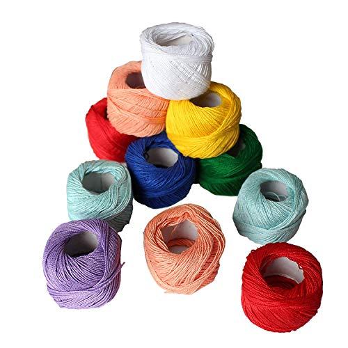 Filati Cotone Per Uncinetto 42 Pezzi Filati Cotone Colori