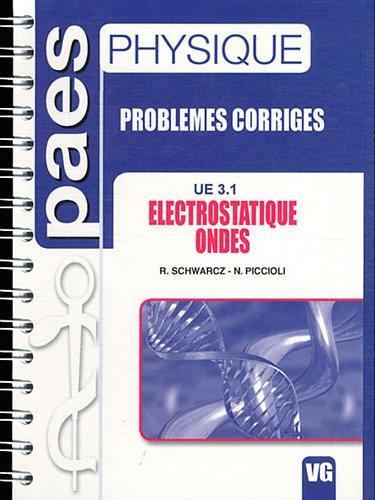 Electrostatique, ondes UE 3.1 : Problmes corrigs