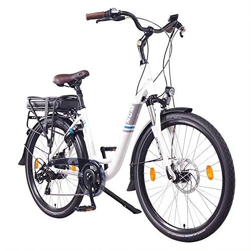 "NCM Munich 26"" E-Bike City Rad, 250W, 36V 13Ah 468Wh weiß"
