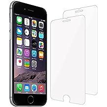 iPhone genuino cristal templado Protector de pantalla, 2-Pack [3d Touch Compatibles] iPhone 55C 5S se 6s 66Plus 77Plus ultra-clear Premium Protector de pantalla de cristal templado con 9H Dureza y fácil instalación sin burbujas.