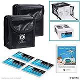 CamKix® Reisesicherheits-Pack Kompatibel mit DJI Phantom 4 - Für 2 Akkus - Beinhaltet: LiPo-Sicherheitstasche, 2X Akku-Deckel und Reise-Anweisungen - Ideales Schutz-Set für Flugreisen